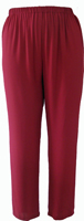Tuscan Red Crepe Bootleg Pant- Copy