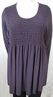 Moonlight purple Smocked Tunic
